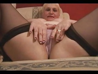Lingerie Blonde Big Tits video: Blond Mature Hot Voluptuous Body
