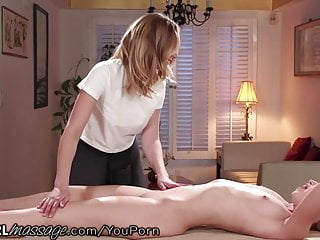 Oldyoung Massage Spanking video: Sexy Dominating Masseuse MILF DOES NOT FUCK AROUND