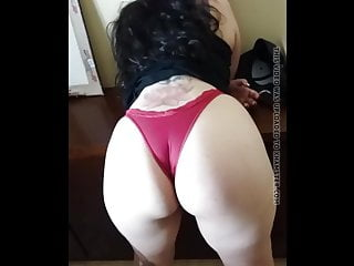 Bbw Latin Big Ass video: nice thick latin milf in red thong with frontal
