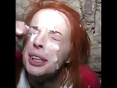 Amateur Bukkake Gag auf Sperma
