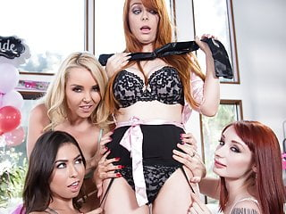 Girls with strap-ons gangbang the Bachelorette