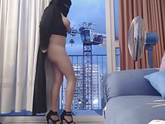 Arabischer Niqab Exhibitionist