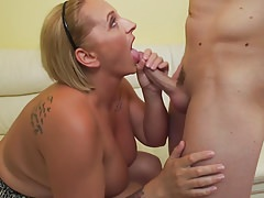 Mature busty modern mom fucks lucky son