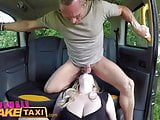Female Fake Taxi Tea bagging squirting and hard fuck