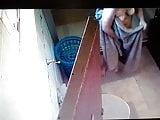 Wife hidden cam in bathroom