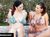 Penthouse Pet Jelena Jensen Gets Lesbo Titty Action in Pool!