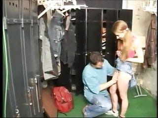 Small Tits Facial Skinny video: NMLN Fucking Her Teacher In The Locker Room !