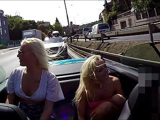 RISKY BARELY LEGAL TITS AND ASS FLASHERS ON THE ROAD