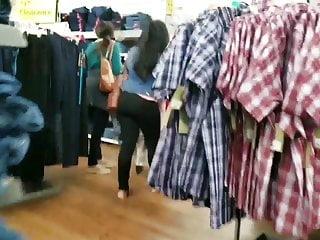 Milf Granny Upskirt video: Candid store mix