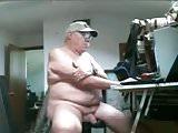 old man on webcam
