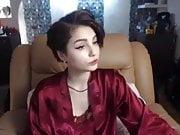 Anna having a cigarette webcam in Lingerie