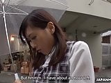 Japanese gal seduces outdoors and dicked super hard in POV