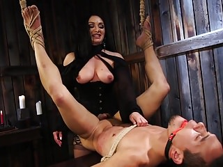 Bdsm Strapon Femdom video: Lea Lexis plays with new toy