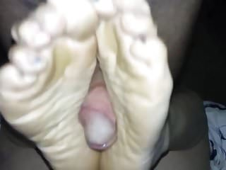 Birthday footjob