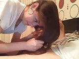 Sexy Brunette Hairjob, Hairplay, Cum in Hair, Long Hair