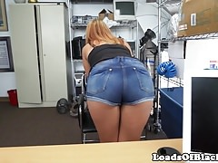 Auditioning amateur spanked and doggystyled