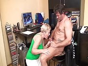 Caught jerking off by horny grandma!