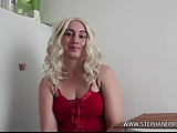 Kristele fucked in POV and sprayed with cum by Stephane
