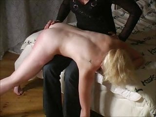Vintage British porno: Bare bottom smacked