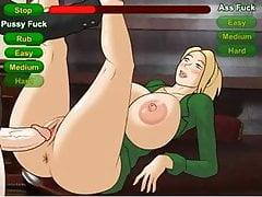 Juego de sexo Hentai Cómo conseguir un trabajo siendo una rubia de grandes tetas