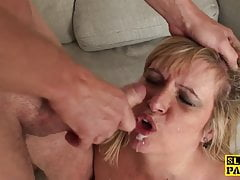 Mature british sub gets BDSM sex humiliation