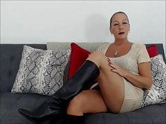 Skórzane buty do kolan
