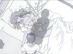 Hentai EVA -Shinji se masturba mientras ve Asuka-
