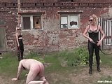 Outdoor English Lesson - Brutal Class With British Goddesses