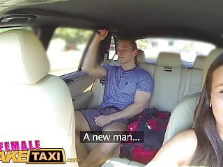 Blondes Big Tits Car video: FemaleFakeTaxi Businessman strikes sexual deal with driver