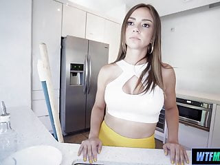 Teen Brunette Maid video: Watching the hot maid