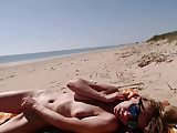 Girl masturbating by the sea