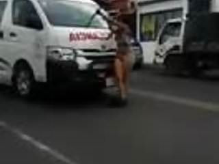 Crazy Naked Public Crazy Woman video: crazy woman naked at public