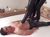 Foot Fetish Slave Mistress video: trampling ladies