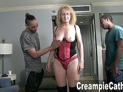 MILF Obtient Creampies Sloppy