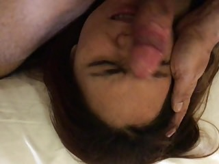 Cock on Hot Asian Face
