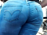 Thick Meaty Ass Tight Levi's Jeans VPL