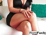 Sexy Romi Rain stuffs her pussy with a large toy