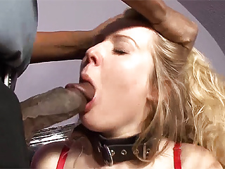 German Interracial Bdsm video: chubby milf gets her first interracial big cock bdsm lesson