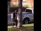 Pee on Sidewalk