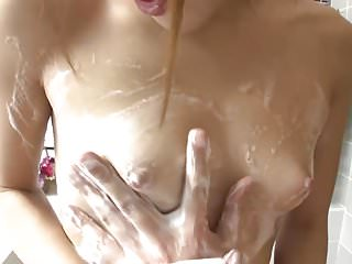 Babes Asian Japanese video: Uncensored JAV soapland body washing foreplay Subtitled