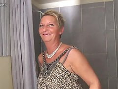 Naughty Dutch housewife playing with her wet pussy