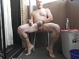 Naked Summer Wank on the Balcony