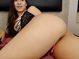 Latina Babe Spreading Her Fat Ass Open