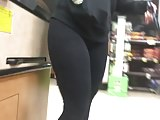 Pawg in leggings with frontal