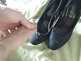Cumming on high heels