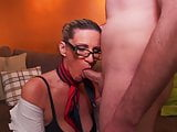Busty nerd mature mother seduce son