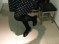 Black Patent Pumps with Pantyhose Teaser 29 | Porn-Update.com