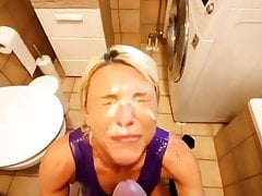Deepest ANAL and shower FACIAL for the amazing MILF
