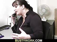 Huge melons secretary pleases her boss