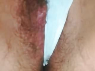 Extremely Hairy Young Cunt Making panties Wet and dirty